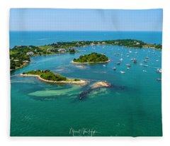 Devils Foot Island Fleece Blanket