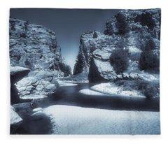 Devils Gate 2 - Martins Cove 2 - Blue Series Fleece Blanket