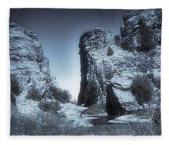 Devils Gate - Martins Cove - Blue Series Fleece Blanket