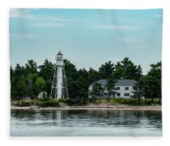 Devils Island Light Tower Fleece Blanket