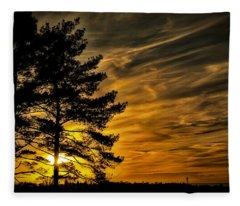 Devils Sunset Fleece Blanket