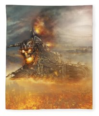 Devils Train 2 Fleece Blanket