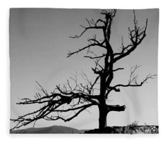 Devoid Of Life Tree Fleece Blanket