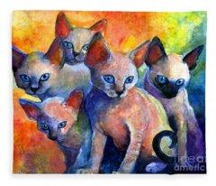 Kittens Fleece Blankets