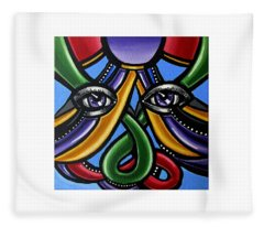 Colorful Eye Art Paintings Abstract Eye Painting Chromatic Artwork Fleece Blanket
