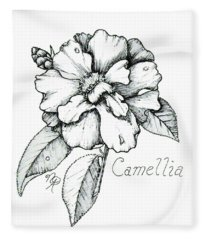 Dew Kissed Camellia Fleece Blanket