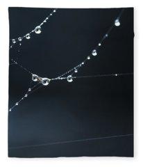Dew On Cobweb 001 Fleece Blanket