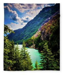 Diablo Lake Fleece Blanket