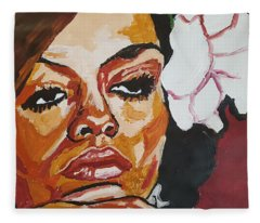 Diana Ross Fleece Blanket