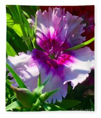 Dianthus Carnation Fleece Blanket