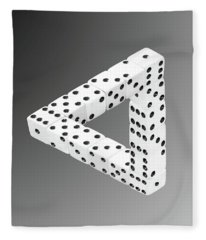 Dice Illusion Fleece Blanket