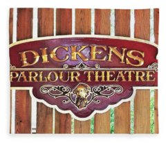 Dickens Parlour Theatre Fleece Blanket