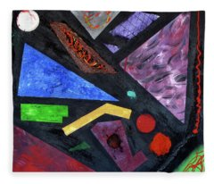 Fleece Blanket featuring the painting Differences by Michael Lucarelli