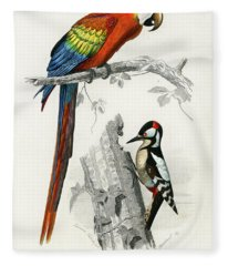 Different Types Of Birds Fleece Blanket