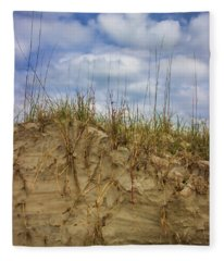 Digging In Deep In Sand Dunes Fleece Blanket