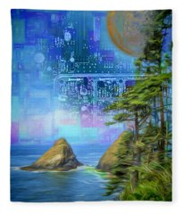 Digital Dream Fleece Blanket