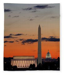Digital Liquid -  Monuments At Sunrise Fleece Blanket