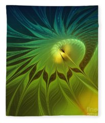 Digital Nature Fleece Blanket