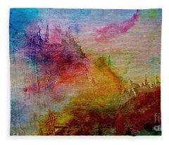 1a Abstract Expressionism Digital Painting Fleece Blanket