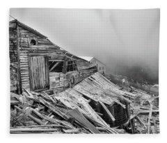 Dilapidated Gold Mine Fleece Blanket