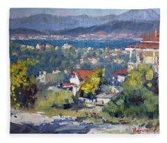 Dilesi Village Athens Fleece Blanket