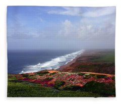 Flowering Beach Point Reyes Lighthouse Bodega Bay Fleece Blanket