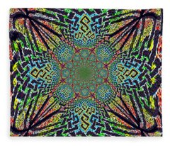 Dimensional Celtic Cross Fleece Blanket