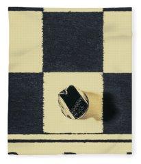 Dimensional Chess Fleece Blanket
