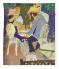 Diner's At Justine's Fleece Blanket