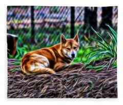 Dingo From Ozz Fleece Blanket