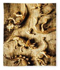 Dinosaurs In A Bone Display Fleece Blanket