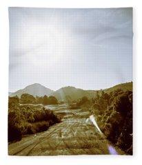 Dirt Roads Of Outback Tasmania Fleece Blanket