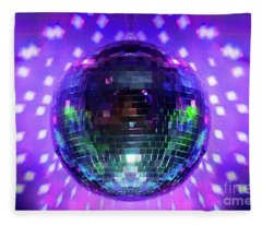Disco Ball Purple Fleece Blanket
