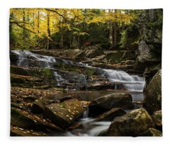 Discovery Falls Autumn Fleece Blanket