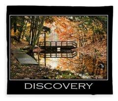 Discovery Inspirational Motivational Poster Art Fleece Blanket