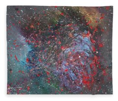 Fleece Blanket featuring the painting Discovery by Michael Lucarelli