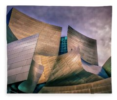Disney Concert Hall At Dusk Fleece Blanket