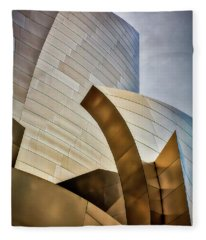 Disney Hall Abstract 3 Fleece Blanket