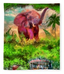 Disney's Jungle Cruise Fleece Blanket