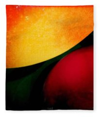 Distant Thoughts. #abstract #curve Fleece Blanket