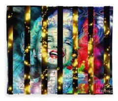 Diva A Star In Stripes Fleece Blanket