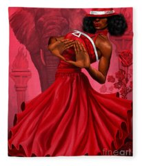 Divine Red And White Fleece Blanket