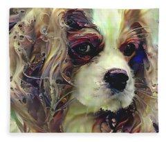 Dixie The King Charles Spaniel Fleece Blanket