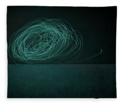 Dizzy Moon Fleece Blanket