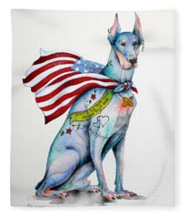 Doberman Napolean Fleece Blanket