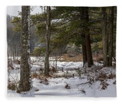 Doc Lee Rd In The Winter Fleece Blanket
