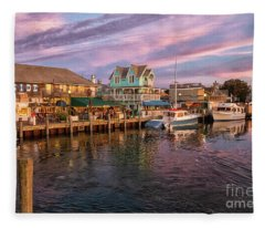 Dockside Marthas Vineyard Massachusetts  Fleece Blanket