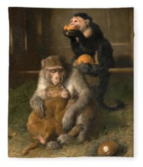 Doctor's Visit To Poor Relations At The Zoological Gardens Fleece Blanket