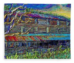 Dodds Creek Mill, ,floyd Virginia Fleece Blanket