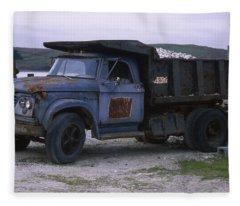 Dodge 700 Dump Truck - Johnson Oyster Company Fleece Blanket